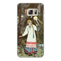 """Чехол для Samsung Galaxy S6 Edge, объёмная печать """"Василиса Прекрасная уходит из дома Бабы Яги"""" - лес, сказки, василиса, баба яга, билибин"""