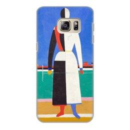 """Чехол для Samsung Galaxy S6 Edge, объёмная печать """"Женщина с граблями (картина Малевича)"""" - картина, живопись, супрематизм, абстракционизм, малевич"""