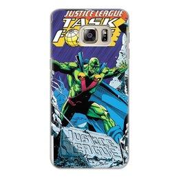"""Чехол для Samsung Galaxy S6 Edge, объёмная печать """"Лига Справедливости"""" - комиксы"""