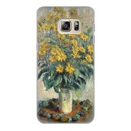 """Чехол для Samsung Galaxy S6 Edge, объёмная печать """"Топинамбур (картина Клода Моне)"""" - цветы, картина, импрессионизм, живопись, моне"""
