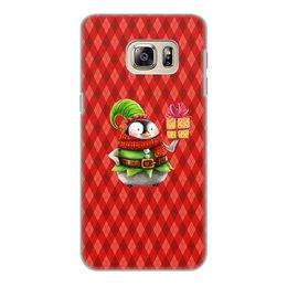 """Чехол для Samsung Galaxy S6 Edge, объёмная печать """"пингвин"""" - новый год, зима, птицы, подарки, пингвин"""