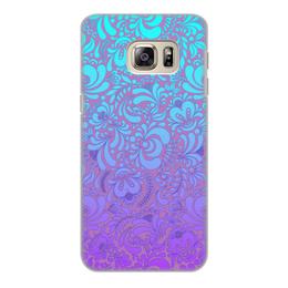 """Чехол для Samsung Galaxy S6 Edge, объёмная печать """"Мираж"""" - рисунок, гжель, роспись"""