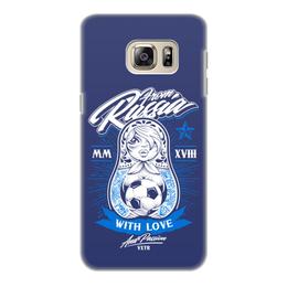 "Чехол для Samsung Galaxy S6 Edge, объёмная печать ""Футбол"" - футбол, матрёшка, спорт"