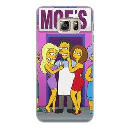 """Чехол для Samsung Galaxy S6 Edge, объёмная печать """"Бар У Мо"""" - девушки, симпсоны, сша"""