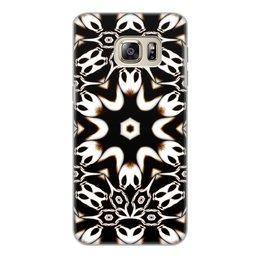 """Чехол для Samsung Galaxy S6 Edge, объёмная печать """"Кофейный"""" - подарок, абстракция, фрактал, digital art, спектр"""