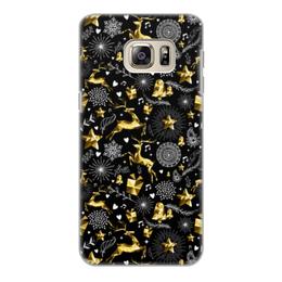 """Чехол для Samsung Galaxy S6 Edge, объёмная печать """"Олени"""" - новый год, олени"""