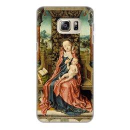 "Чехол для Samsung Galaxy S6 Edge, объёмная печать ""Мадонна с младенцем на троне (Альберт Баутс)"" - картина, живопись, возрождение, баутс"