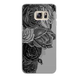 """Чехол для Samsung Galaxy S6 Edge, объёмная печать """"Букет роз"""" - цветы, роза, розы, букет, шипы"""