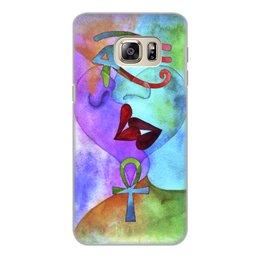 """Чехол для Samsung Galaxy S6 Edge, объёмная печать """"Бесконечная любовь"""" - сердце, любовь, губы, абстракция, поцелуй"""