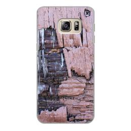 """Чехол для Samsung Galaxy S6 Edge, объёмная печать """"Деревянный"""" - оригинальный, деревянный, амбарная доска"""