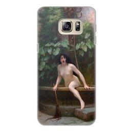 """Чехол для Samsung Galaxy S6 Edge, объёмная печать """"Истина, выбирающаяся из колодца (Жан-Леон Жером)"""" - картина, академизм, живопись, ню, жером"""