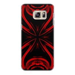 """Чехол для Samsung Galaxy S6 Edge, объёмная печать """"Красная Ртуть"""" - подарок, абстракция, digital art, спектр, красное на черном"""