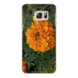 """Чехол для Samsung Galaxy S6 Edge, объёмная печать """"Удивительный Алтай"""" - лето, цветы, алтай, горный алтай, altay"""