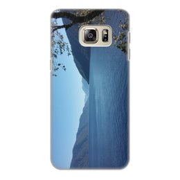 """Чехол для Samsung Galaxy S6 Edge, объёмная печать """"Удивительный Алтай"""" - лето, горизонт, алтай, горный алтай, телецкое озеро"""