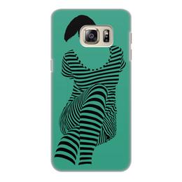 """Чехол для Samsung Galaxy S6 Edge, объёмная печать """"""""Раздвоение личности"""""""" - настроение, оригинальный, хеллоуин, стройность, раздвоение личности"""