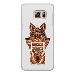 """Чехол для Samsung Galaxy S6 Edge, объёмная печать """"Тотемное животное - Лис"""" - оберег, иллюстрация, тотемное животное, лис"""