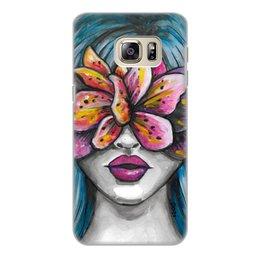 """Чехол для Samsung Galaxy S6 Edge, объёмная печать """"Весна"""" - любовь, девушка, цветы, весна"""