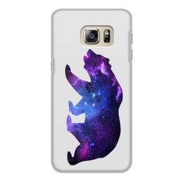 """Чехол для Samsung Galaxy S6 Edge, объёмная печать """"Space animals"""" - space, bear, медведь, космос, астрономия"""