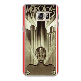 """Чехол для Samsung Galaxy S6 Edge, объёмная печать """"Афиша к фильму «Метрополис», 1927 год"""" - фильм, афиша"""