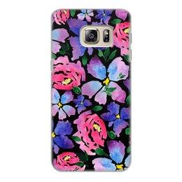 """Чехол для Samsung Galaxy S6 Edge, объёмная печать """"цветочки"""" - лето, цветы, узор, природа, цветочки"""