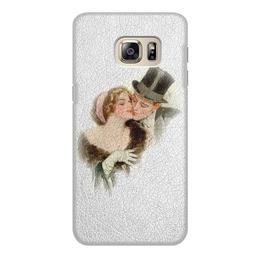 "Чехол для Samsung Galaxy S6 Edge, объёмная печать ""День Святого Валентина"" - настроение, картина, винтаж, 14фев, harrison fisher"