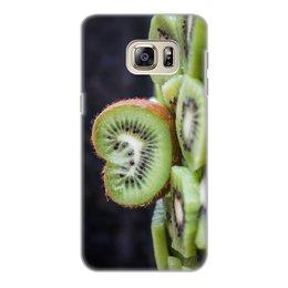 """Чехол для Samsung Galaxy S6 Edge, объёмная печать """"Лето!"""" - лето, фрукты, радость, киви, сочный киви"""