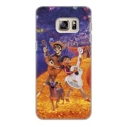 """Чехол для Samsung Galaxy S6 Edge, объёмная печать """"Тайна Коко"""" - музыка, мультфильм, дисней, приключения, тайна коко"""