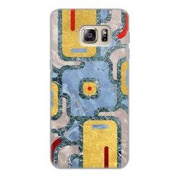 "Чехол для Samsung Galaxy S6 Edge, объёмная печать ""Мандала Богатства (Золото и Мрамор)"" - узор, орнамент, камень, богатство, премиум"