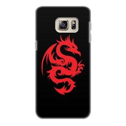 """Чехол для Samsung Galaxy S6 Edge, объёмная печать """"ДРАКОНЫ ФЭНТЕЗИ. СИМВОЛИКА"""" - стиль, дракон, красота, эмблема, символ"""