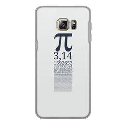 """Чехол для Samsung Galaxy S6 Edge, объёмная печать """"Число Пи"""" - математика, алгебра, гик, число, пи"""