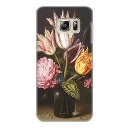 """Чехол для Samsung Galaxy S6 Edge, объёмная печать """"Букет из тюльпанов, роз, клевера, и цикламен"""" - цветы, картина, босхарт"""