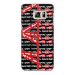 "Чехол для Samsung Galaxy S6 Edge, объёмная печать ""Supreme"" - надписи, бренд, brand, supreme, суприм"