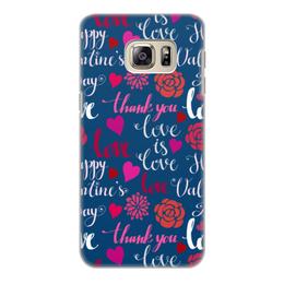 """Чехол для Samsung Galaxy S6 Edge, объёмная печать """"День Св. Валентина"""" - день св валентина, валентинка, сердца, любовь"""