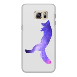 """Чехол для Samsung Galaxy S6 Edge, объёмная печать """"Space animals"""" - space, космос, fox, лиса, jump"""
