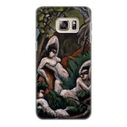 "Чехол для Samsung Galaxy S6 Edge, объёмная печать ""Лето (картина Макса Вебера)"" - картина, живопись, кубизм, модерн, вебер"