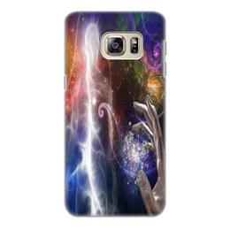"""Чехол для Samsung Galaxy S6 Edge, объёмная печать """"фантастика"""" - игры, рука, космос, фантастика, мистика"""