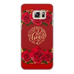 """Чехол для Samsung Galaxy S6 Edge, объёмная печать """"День Св. Валентина"""" - любовь, цветы, розы, валентинка, день св валентина"""