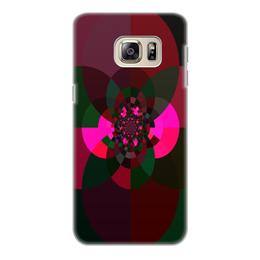 """Чехол для Samsung Galaxy S6 Edge, объёмная печать """"Калейдоскоп из кругов"""" - яркий, оригинальный, веселый, фантазия, геометрический"""