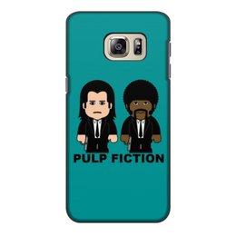 """Чехол для Samsung Galaxy S6 Edge, объёмная печать """"Pulp Fiction"""" - тарантино, криминальное чтиво, джон траволта, сэмюэл лерой джексон, культовое кино"""