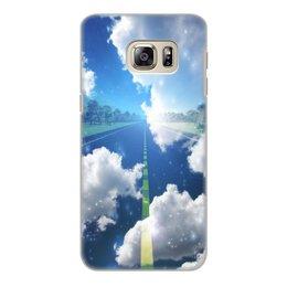 "Чехол для Samsung Galaxy S6 Edge, объёмная печать ""облака"" - дорога, небо, облака, природа, тучи"