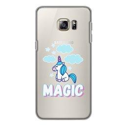 "Чехол для Samsung Galaxy S6 Edge, объёмная печать ""Magic"" - magic, unicorn, единорог"