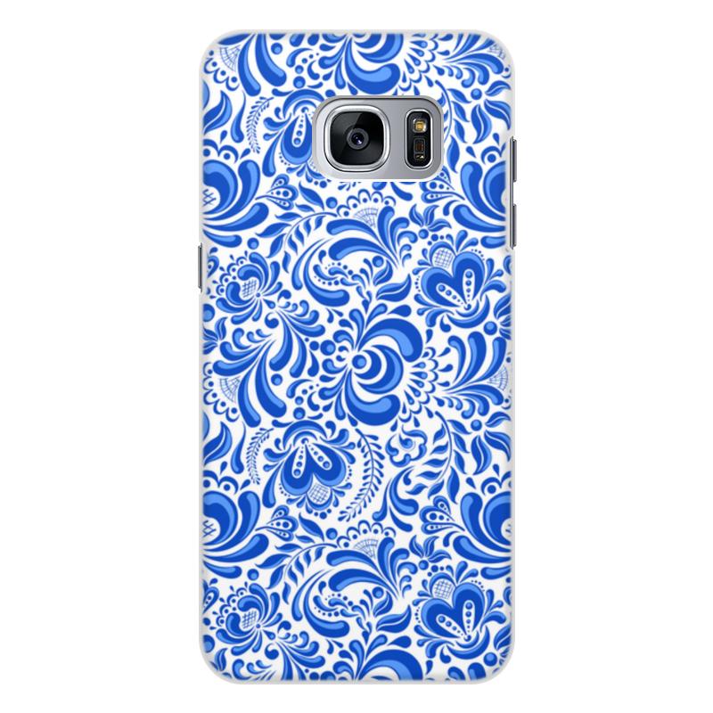 Чехол для Samsung Galaxy S7, объёмная печать Printio Гжель цена