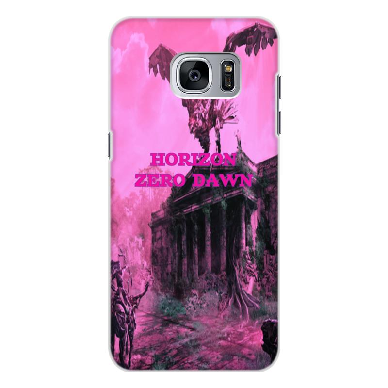 Чехол для Samsung Galaxy S7, объёмная печать Printio Horizon zero dawn все цены