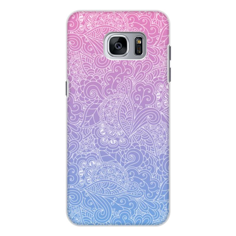 Чехол для Samsung Galaxy S7, объёмная печать Printio Градиентный узор printio чехол для samsung galaxy s7 объёмная печать