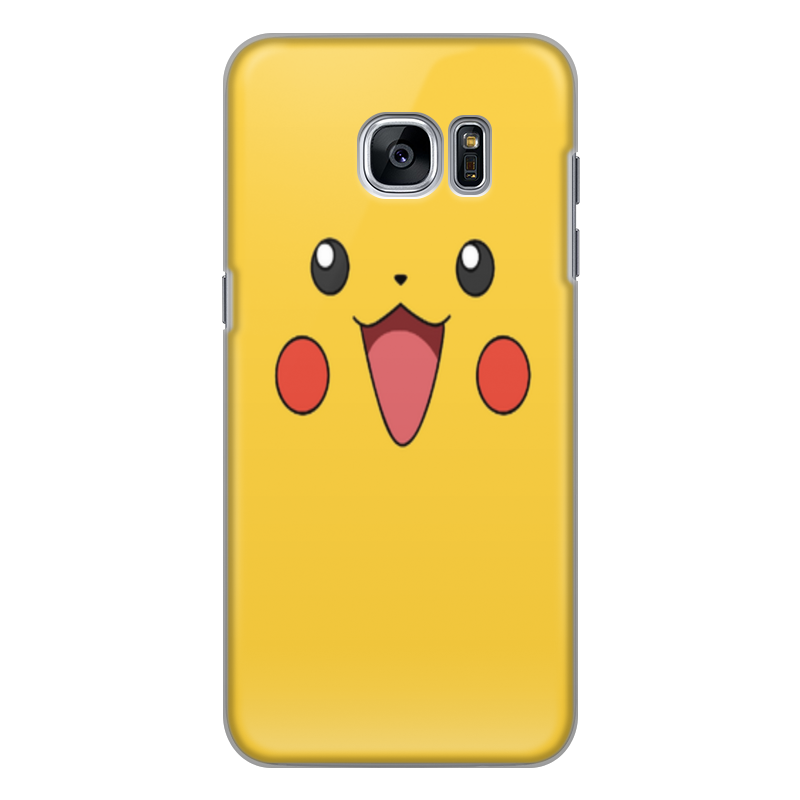 Чехол для Samsung Galaxy S7, объёмная печать Printio Pikachu часы карманные pattern мягкий тонкий тпу резиновый силиконовый гель дело чехол для samsung galaxy s7 plus