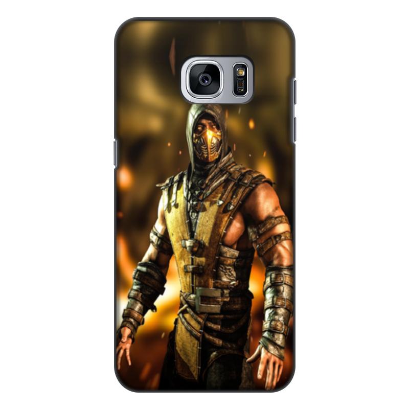 Чехол для Samsung Galaxy S7, объёмная печать Printio Mortal kombat (scorpion)