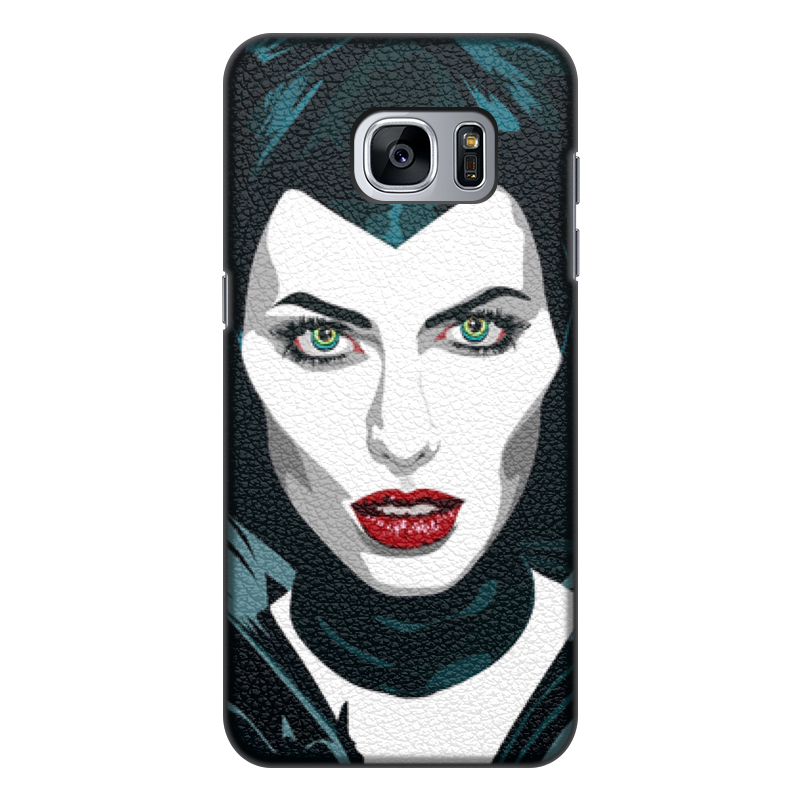 цена на Чехол для Samsung Galaxy S7, объёмная печать Printio Maleficent (анджелина джоли)