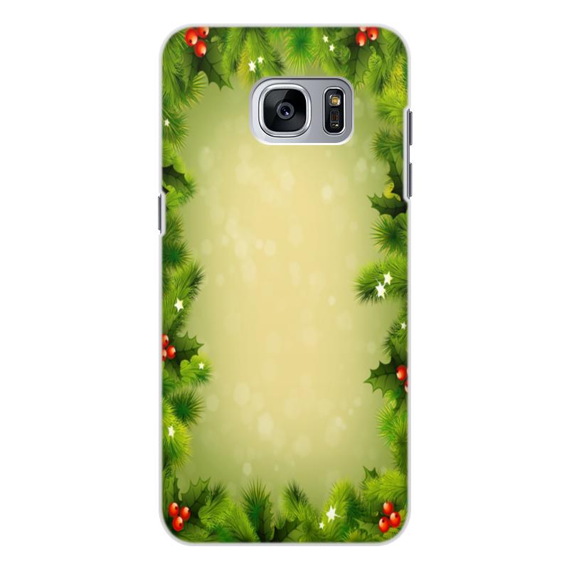 Чехол для Samsung Galaxy S7, объёмная печать Printio С новым годом! printio чехол для samsung galaxy s7 объёмная печать