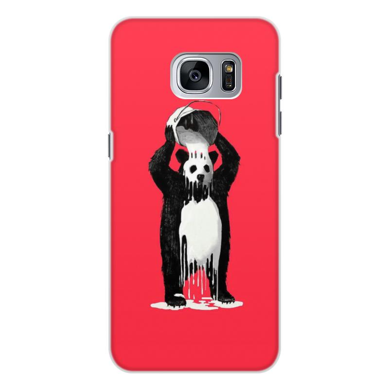 лучшая цена Чехол для Samsung Galaxy S7, объёмная печать Printio Панда в краске