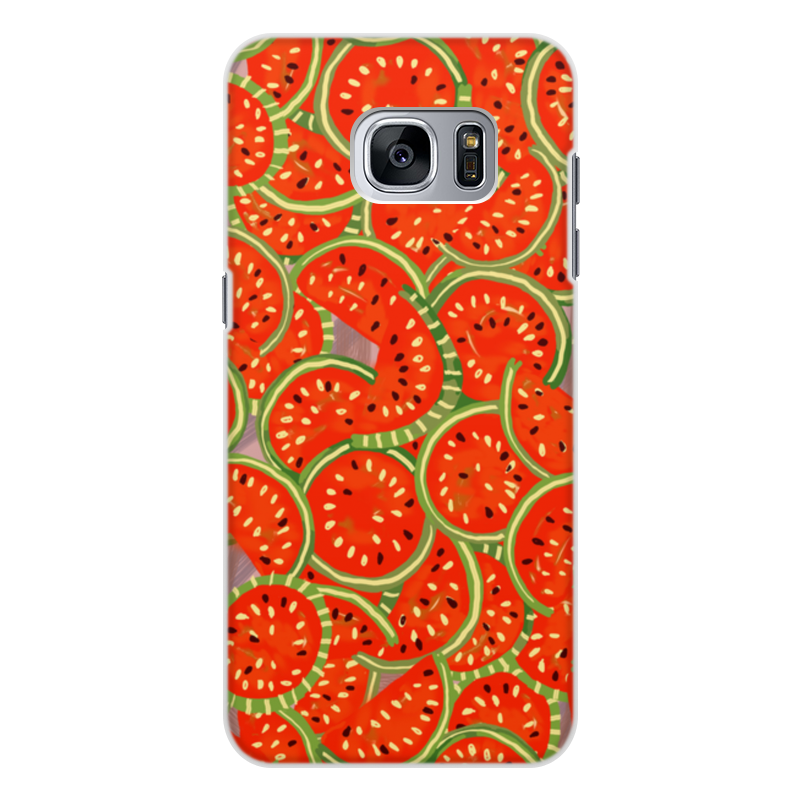 Чехол для Samsung Galaxy S7, объёмная печать Printio Watermelon summer watermelon print round beach blanket
